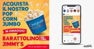 cinelandia ideazione grafica pubblicitaria popcorn social