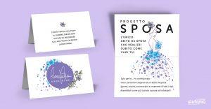 Laura Farina Progettazione grafica biglietti da visita pieghevoli