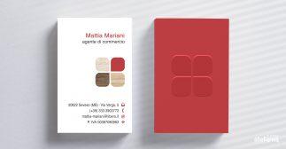 mattia mariani progettazione grafica biglietti da visita