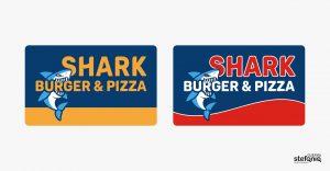 shark burger progettazione grafica logo