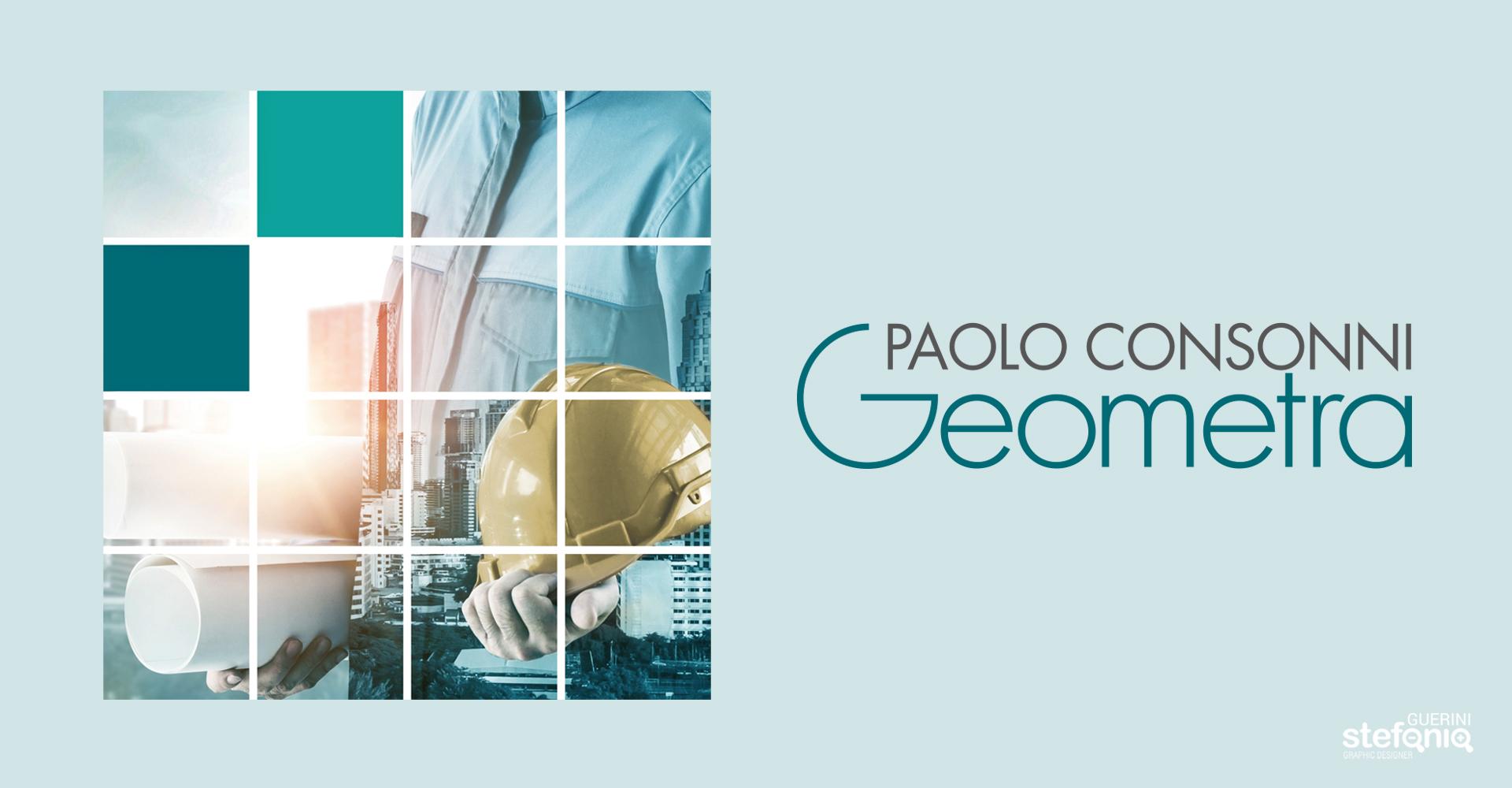 Paolo Consonni Progettazione grafica logo geometra