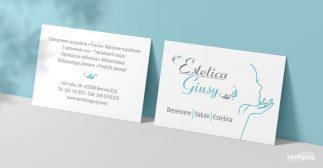 Estetica Giusy impaginazione grafica biglietti da visita
