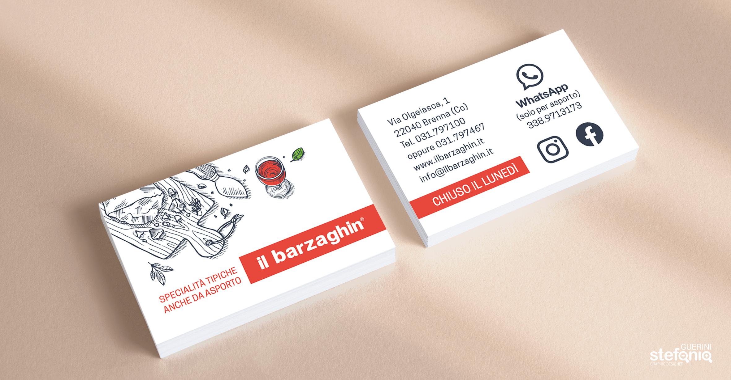 ilbarzaghin impaginazione grafica biglietti da visita