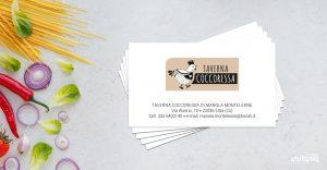 taverna coccoressa ideazione grafica biglietti da visita